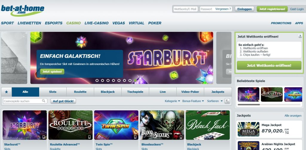 Bet-at-home Casino Vorschau