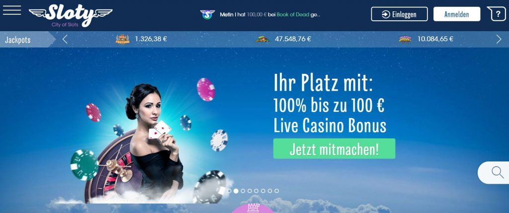 Sloty Casino Vorschau