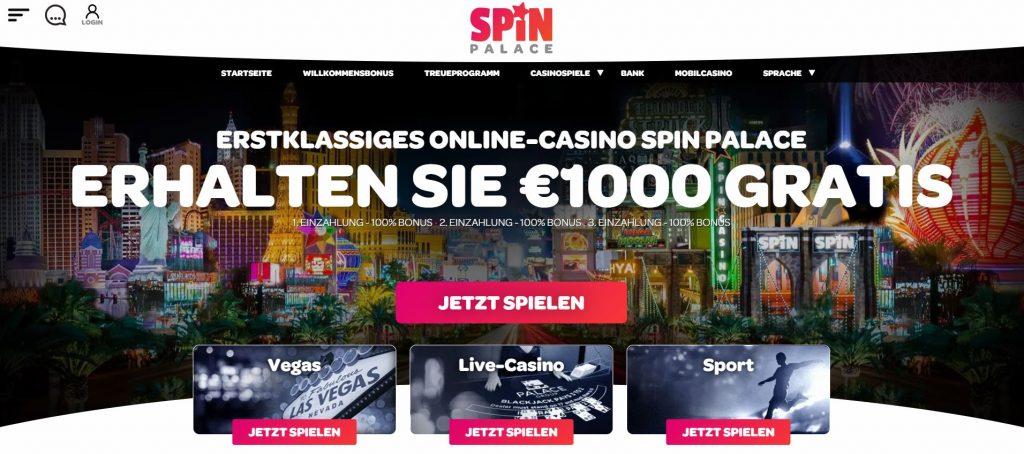 Spinpalace Casino Vorschau